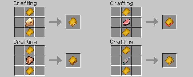 Lots of Food Mod Crafts and explanations