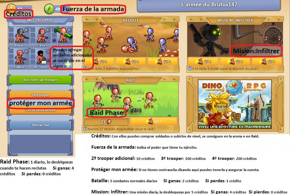 DinoRPG en Español, juego de rol en línea [ Clan : Warriors of Hell ]